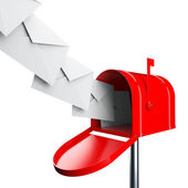 Mailbox with letters — Stock Photo