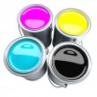 Stock Photo: CMYK paint can