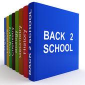 Coloured textbooks — Stock Photo