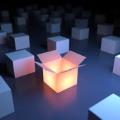Unica scatola luminosa — Foto Stock