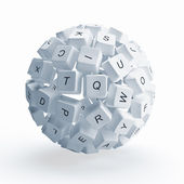 Keys of keyboard — Stock Photo