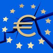 Symbolizes - European Debt Crisis — Stock Photo