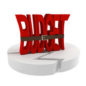 Symbolizes - the crisis in the budget — Stock Photo