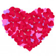 Heart made of color paper hearts. — Stock Photo