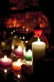 Candles and romance — Stock Photo