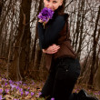 Girl with snowdrops — Stock Photo #9839833