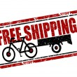 Free shipping stamp — Stockvectorbeeld
