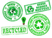 Set of recycled stamps — Stock Vector