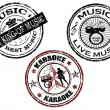 Music stamps — Stock Vector