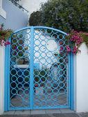 Blue Gate — Stock Photo