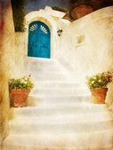 Home Entrance (Sepia) — Stock Photo