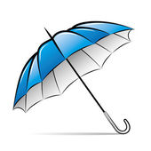 Drawing umbrella on white background. Vector illustration — Stock Vector