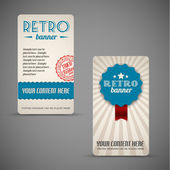 Old retro vintage grunge cards — Stock Vector