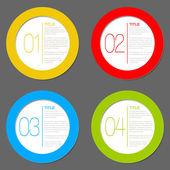 Um dois três quatro - vetor ícones de progresso — Vetorial Stock