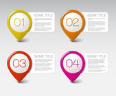 One two three four - vector progress icons — Stock Vector
