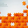 Vector Abstract background made from orange puzzle pieces — Stock Vector #10346429