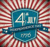 Escudo de día de independencia de vector, cartel — Vector de stock