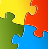 Vector puzzle, solution background — Vettoriale Stock