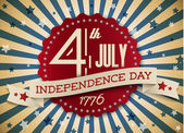 Vector independence day badge, poster — Vettoriale Stock