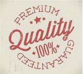 Vector retro premium quality stamp — Stock Vector