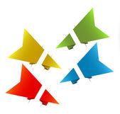 Vector flèches de papier origami — Vecteur