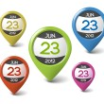 Vector calendar element for your web — Stock Vector #10582758