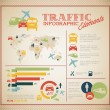 Stock Vector: Big Vector set of Traffic Infographic elements