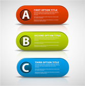 3D vector progress buttons — Stock Vector