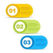 Um dois três - vetor ícones de progresso — Vetorial Stock