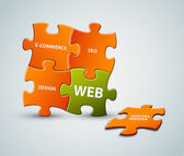 Vector web solution illustration — Stock Vector