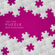 Vector purple background made from white puzzle pieces — Stock Vector #10681022