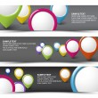Set of map locator horizontal banners — Stock Vector #10681039