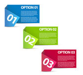One two three - vector paper options — Vettoriale Stock
