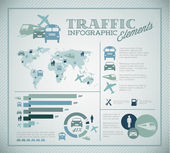 Big Vector set of Traffic Infographic elements — Vettoriale Stock