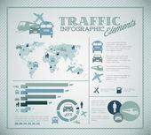 Conjunto de grande vetor de elementos de infográfico de tráfego — Vetorial Stock