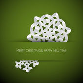Vector white paper christmas snowflake — Vector de stock