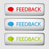 Vector Feedback buttons — Stock Vector