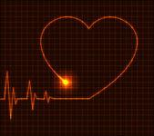 Abstract heart cardiogram illustration - vector — Stock Vector