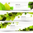 Vector Fresh spring horizontal banners — Stock Vector