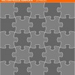 Complete vector puzzle, jigsaw template — Stock Vector
