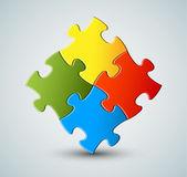 Puzzle vettoriale, sfondo di soluzione — Vettoriale Stock