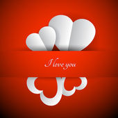 Red vector Valentines background — Stock Vector