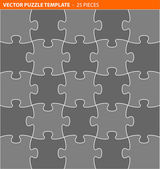 Komplette vektor-puzzle, puzzle-vorlage — Stockvektor