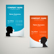 Vector Set of modern business card templates — Stock Vector
