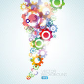 Vector technical background made from cogwheels — Stock Vector