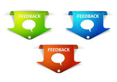 Vector Feedback Arrow Labels - Stickers — Stock Vector