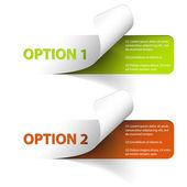 Set di adesivi di opzione campione colorato vettoriale — Vettoriale Stock