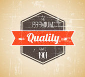 Old dark retro vintage grunge label — Stock Vector