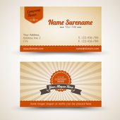 Vector old-style retro vintage business card — Vettoriale Stock