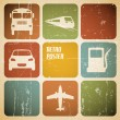 Vector vintage transport (traffic) poster - Stok Vektr